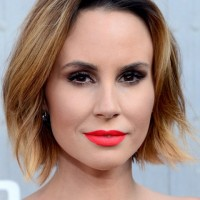 Keltie Knight Short Graduated Ombre Bob Hairstyle for Square Faces
