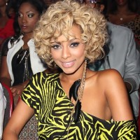 Keri Hilson Big Wavy Curly Hairstyle for Blond Hair