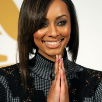 Keri Hilson Inverted Bob Haircut for Straight Hair