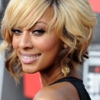 Keri Hilson Short Inverted Bob Hairstyle with Curls
