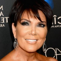 Kris Jenner Short Sleek Brown Pixie Cut for Women Over 50