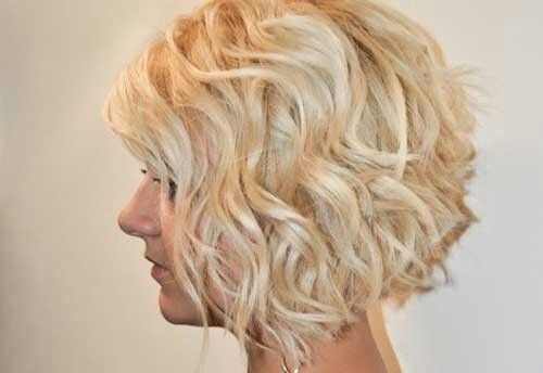 Inverted Bob Haircut For Wavy Hair