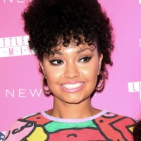 Leigh-Anne Pinnock Trendy Short Curly Haircut for Black Women