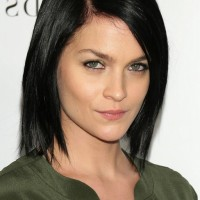 Leigh Lezark Short Haircut: Straight Black graduated Bob for Fall