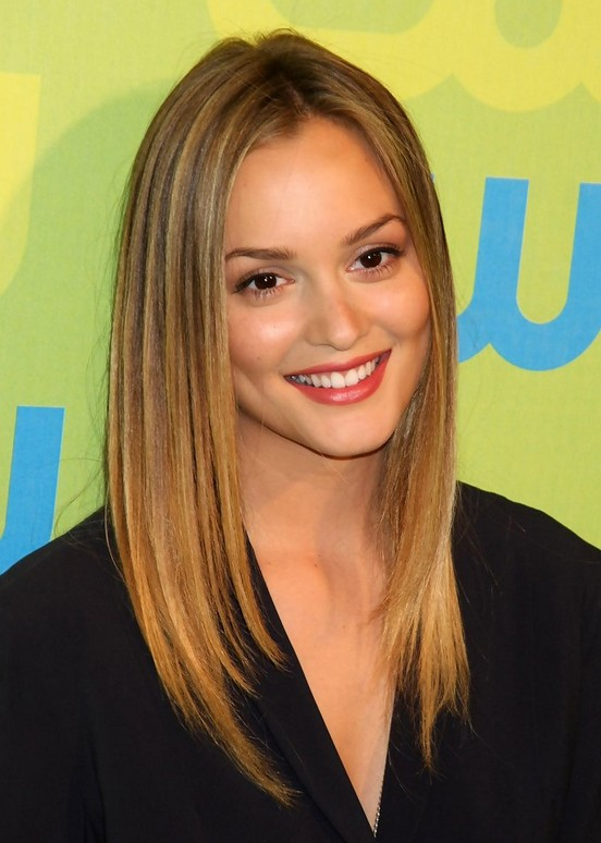Leighton Meester Straight Hairstyles