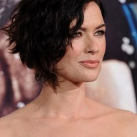 Lena Headey Haircut: Layered Short Messy Curly Hairstyle