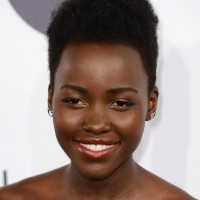 Lupita Nyong'o Short Natural Curly Hairstyle