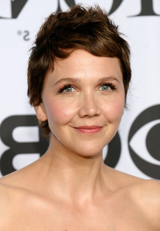 Maggie Gyllenhaal Short Spiked Haircut For Summer Styles