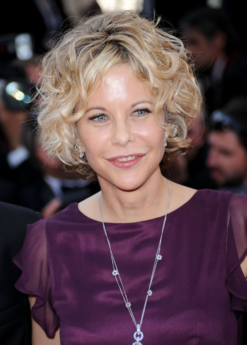 Meg Ryan Short Haircut: Blonde Curly Hairstyle for Women Over 50 ...