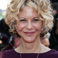 Meg Ryan Short Curly Hairstyle for Women Over 50