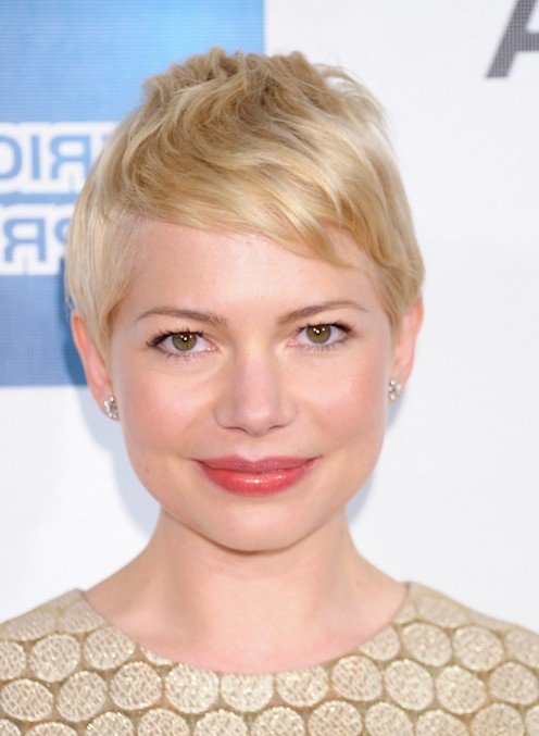 Michelle Williams Casual Blonde Pixie Cut for Short Hair
