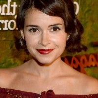Miroslava Duma Finger Wave Hairstyle for Short Hair