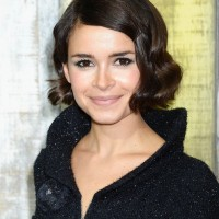 Miroslava Duma Short Finger Wave Haircut for Fall