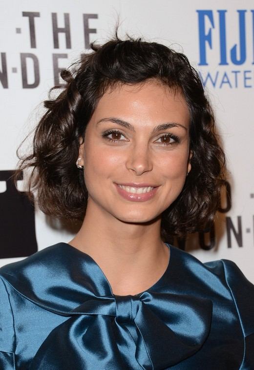 Fabulous Morena Baccarin Short Curly Bob Hairstyle For Round Faces Styles Hairstyle Inspiration Daily Dogsangcom