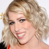 Natasha Bedingfield Casual Short Curly Bob Haircut