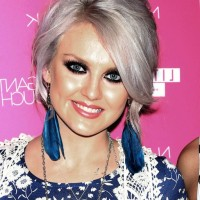 Perrie Edwards Short Graduated Bob Hairstyle with Bangs
