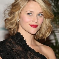 Reese Witherspoon Short Blonde Curly Bob Hairstyle