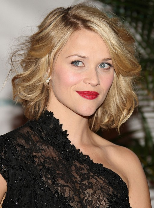 Awe Inspiring Reese Witherspoon Short Blonde Curly Bob Hairstyle Styles Weekly Hairstyles For Women Draintrainus