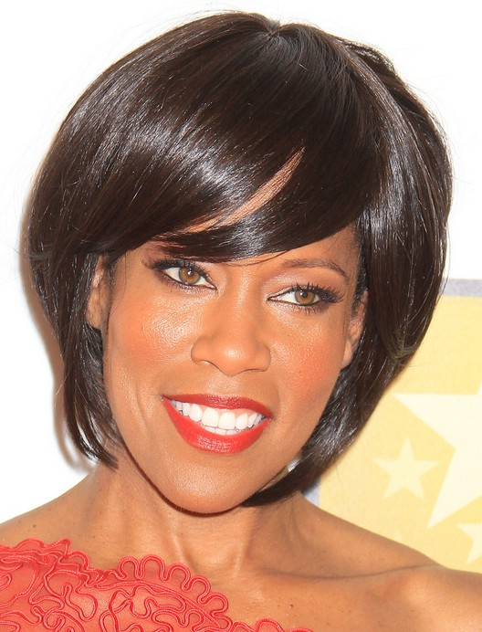 Superb Medium Graduated Bob Hairstyle For Thick Hair Regina King39S Short Hairstyles For Black Women Fulllsitofus