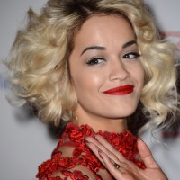 Rita Ora Wavy Curly Hairstyles for Women