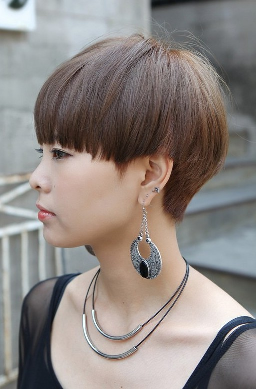 Short Bowl Cut For Girls Korean Hairstyles For Girls