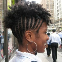 Short Cornrows Hairstyle for Natural Hair