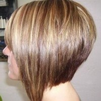 Side View of Short Inverted Bob Hairstyle for Girls
