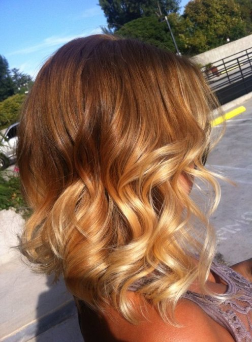 Short Layered Ombre Hair With Curls Ombre Hair 2015 Styles Weekly