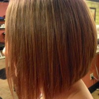 Side View of A Line Inverted Bob Hairstyle