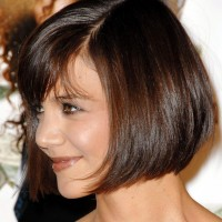 Side View of Cute Short Wedge Bob Hairstyle