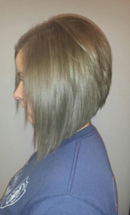 Side View of Graduated Bob Haircut