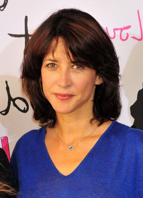 Admirable Sophie Marceau Layered Graduated Bob Hairstyle For Thick Hair Hairstyles For Men Maxibearus