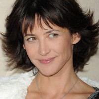 Sophie Marceau Sassy Short Bob Hairstyle with Bangs