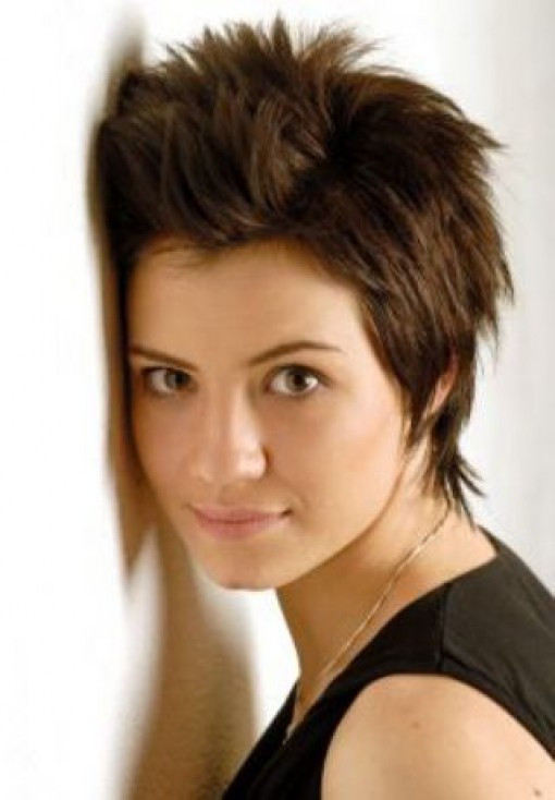 Spiked Short Boycut Hairstyle for Women