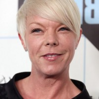 Tabatha Coffey Short Blonde Boy Cut with Bangs