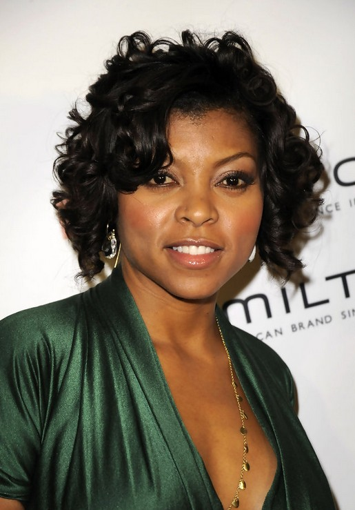 Taraji P Henson Short Naturally Curly Hairstyle For Women Styles Weekly
