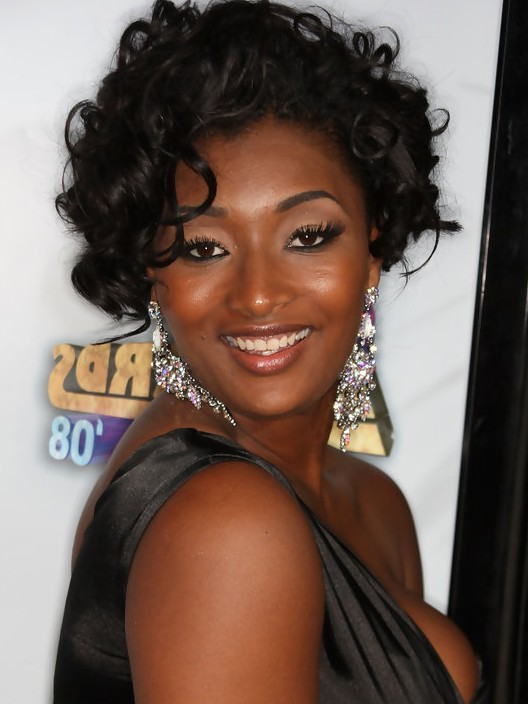 Toccara Jones Short Black Curly Bob Hairstyle for Black Women