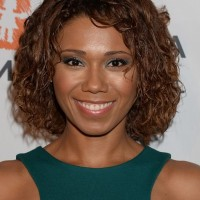 Toks Olagundoye Short Brown Curly Bob Hairstyle for Black Women