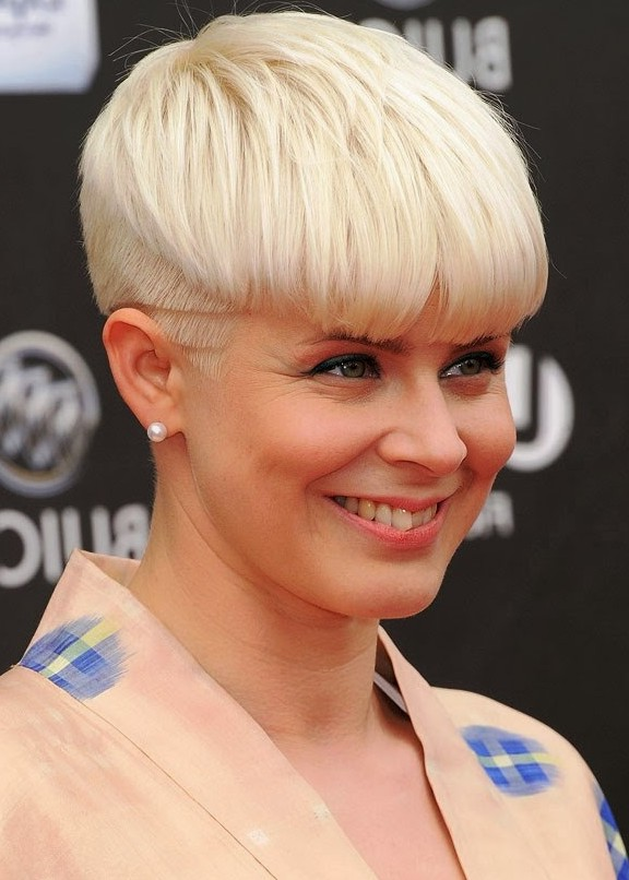Trendy Short Blonde Bowl Cut