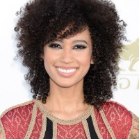 African American Curly Hairstyle with Bangs from Andy Allo