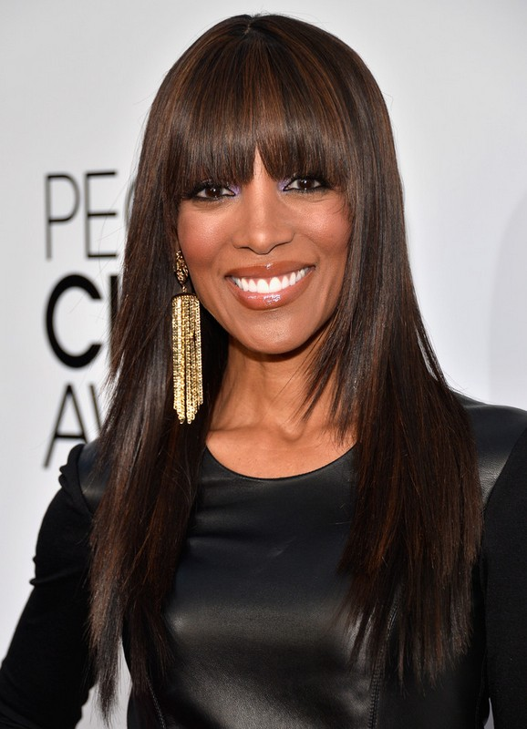 African American Highlight Long Sleek Straight Hairstyle