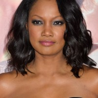 African American Medium Black Wavy Hairstyle from Garcelle Beauvais