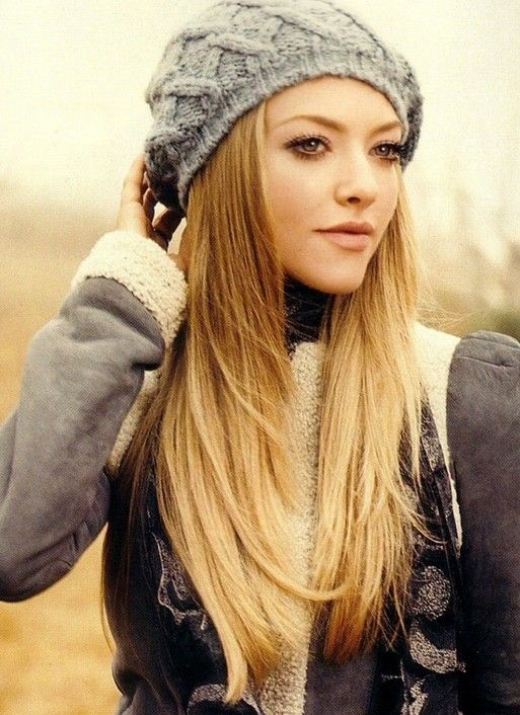 Amanda Seyfried Cute Long Ombre Hair