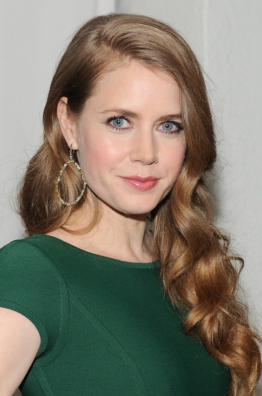 Incredible Amy Adams Deep Side Parting Long Curly Hairstyle For Women Short Hairstyles Gunalazisus
