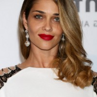 Ana Beatriz Barros Medium Curly Hairstyle with Bangs