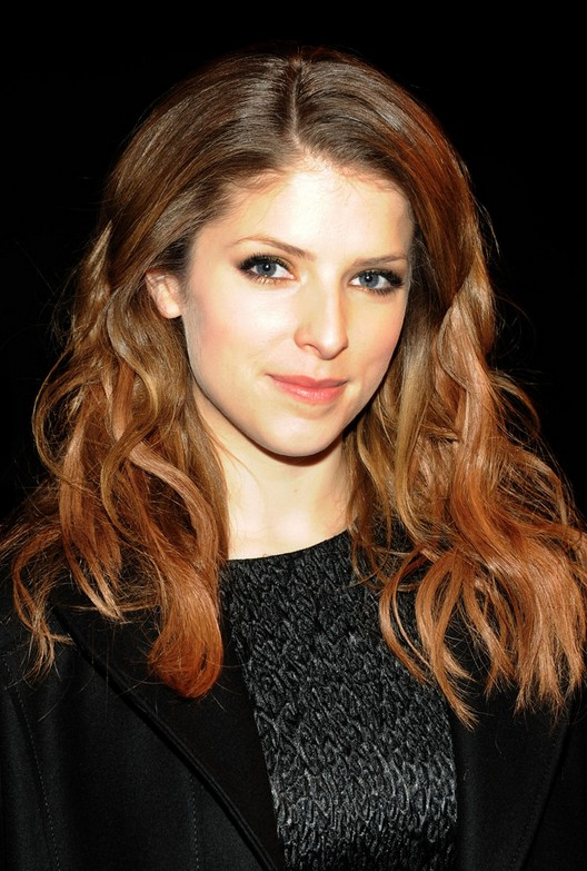 Anna Kendrick Sexy Ombred Layered Long Wavy Hairstyles