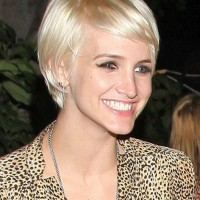 Ashlee Simpson Cute Short Straight Haircut with Bangs