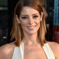 Ashley Greene Medium Layered Straight Haircut for Women