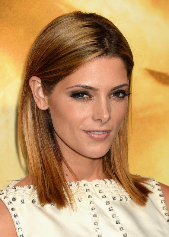 Shoulder Length Hairstyles Night Out : Ashley greene shoulder length striaght hairstyle for night