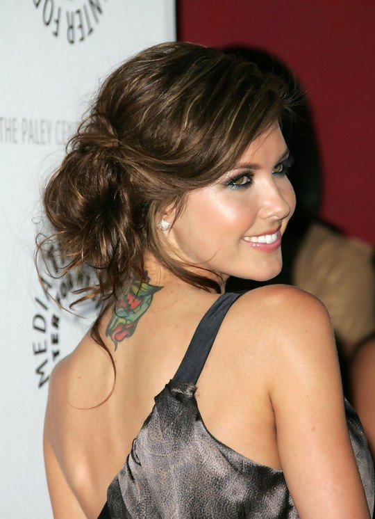 Audrina Messy Updo